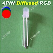 50pcs x 5mm 4pin Tri-Color Diffused RGB Common Anode LED Red/Green/Blue LED