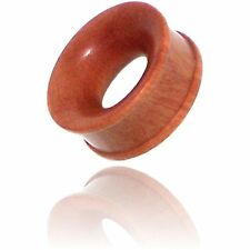 Concave Rose Wood Tunnels Plugs Pair Of 000G 7/16 Inch (12Mm)