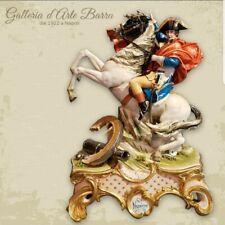 Porcelain Capodimonte, Impressive Napoleon on Horseback