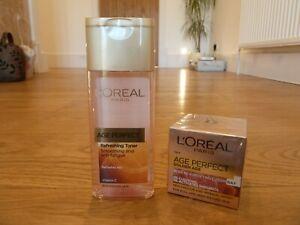 L'Oreal Age Perfect Day Cream For Very Mature Skin 55+ Age Perfect Toner 200ml