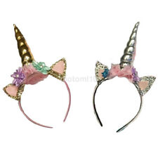 1X Decorative Hair Band Unicorn Horn Tiara Headband Headwear Fancy Dress Costume