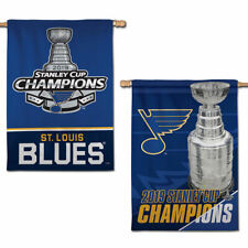 St. Louis Blues NHL 2019 Stanley Cup Champions Two Sided House Flag
