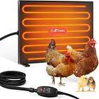 Fiada Chicken Coop Heaters, 100/200W Adjustable Wattage UL Tested Radiant Heat