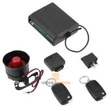 Universal Car Alarm Security System w/ Flip Key Remote Control Central Door Lock