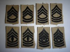 Set Of 4 Pairs Of US Army Various SERGEANT Rank Collar Patches