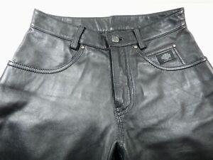 Harley-Davidson Black Genuine Leather Pants Size 30/2 W RN 103819