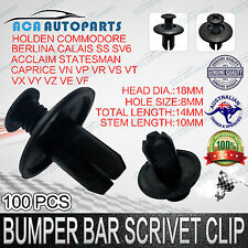 100 8mm Plastic Car Screw Scrivet Interior Trim Panel Clips Fit HOLDEN COMMODORE