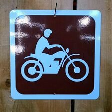 MX Motocross Motor Cycle Dirt Bike Recreation Symbol Highway Route Sign