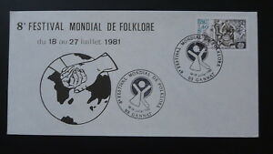 world folklore festival Europa Cept philatelic cover 1981