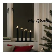 Ikea STRALA LED 4 Arm Candelabra Black Holiday Christmas Decor  NEW