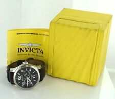 INVICTA 0764 Stainless Steel/Leather Water Resistant Men's 48mm Watch