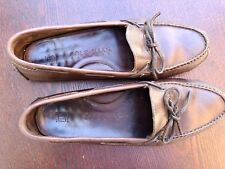 COLE HAAN Men's size 11D Smooth Cognac Leather Driving Mocs Loafers Slip On Shoe