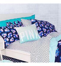 Victoria's Secret PINK White Navy Polka Dot Sheet Set Twin XL NWT