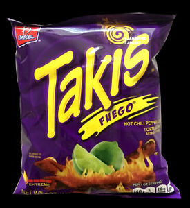 Takis Barcel Fuego Hot Chili Pepper & Lime Tortilla Chips 113.4g