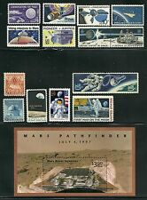 USA ATTRACTIVE COLLECTION SPACE EXPLORATION POSTAGE STAMPS with S/S