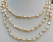 LONG 36'' INCHES 7-9MM PINK AKOYA CULTURED PEARL NECKLACE