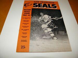 1963-64 San Francisco Seals Western Hockey League Program L.A. Blades VF/NM