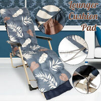 Garden Lounger High Chair Rocking Back Mat Recliner Outdoor Sun Seat Cushion