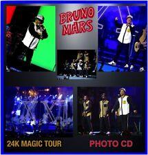 BRUNO MARS 24KT GOLD TOUR 2017 CONCERT LIVE PHOTO CD 1800