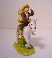 Vintage Norman Rockwell Porcelain Off To School 1983 Figurine Horse Girl Boy