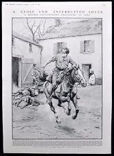 BRITISH SOLDIER ESCAPES NERY RICHARD CARTER SR HORSE TRAINER WW1 FRANK DADD 1915