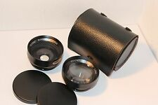 RARE VIVITAR ACCESSORY LENSES for MAMIYA SEKOR 35mm FILM SLRs with FIXED LENSES