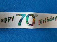 Milestone Birthday Ribbon - Cake or Gift Wrap approx  2m length