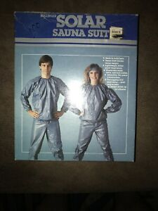 Vintage Bollinger 2 Piece Sauna Suit Adult L NIB New In Box Blue