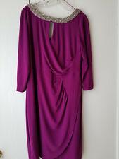 Alex Evening purple dress size 14W lower back $27 NEW PRICE cover knee