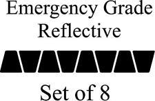 Black HELMET TETS TETRAHEDRONS HELMET STICKER  EMT EMERGENCY GRADE REFLECTIVE