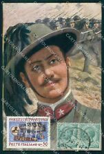 Militari Propaganda Bersaglieri GG Filatelia cartolina XF0990