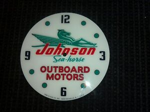 """*NEW*14.25"""" JOHNSON OUTBOARD BOAT MOTOR ROUND GLASS FACE FOR PAM CLOCK"""