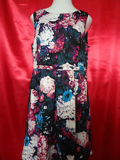 Andrianna Pappell Floral Print Stretch Fit Black Multi, Sleeveless, Size 16