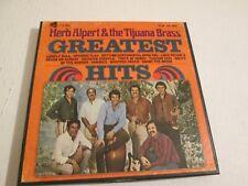 "Herb Alpert ""Greatest Hits"" REEL TO REEL TAPE 7 1/2 IPS EXCELLENT SHAPE"