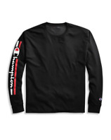 Champion Men's Classic Jersey Long-Sleeve Tee, Vertical Logo GT78H Y07980