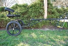 """EZ Entry Mini Horse Cart w/""""C"""" Springs w/48""""-55"""" Shafts w/16"""" Motorcycle Tires"""