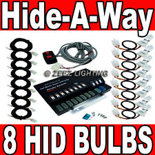 160W 8 HID Bulb Hide-A-Way Emergency Hazard Warning Flash Strobe Light System#93