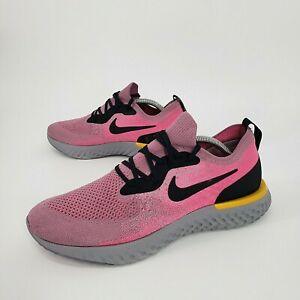 Nike Epic React Flyknit Pink Plum Dust Running Shoes Men's Size 10.5 AQ0067-500