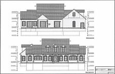 Full Set of two story 3 bedroom house plans 3,462 sq ft