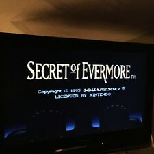 Secret of Evermore Game Cartridge Super Nintendo SNES Authentic Tested