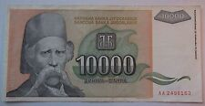 Yugoslavia Banknotes,Yougoslavia,10,000 Dinara type Karadzic-CURRENCY-MONEY-OLD