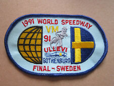 '91 Speedway Final Swe Motorcycle Automobilia Motorsport Cloth Patch Badge (L3K)