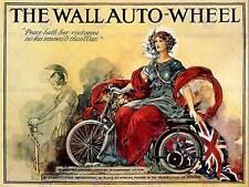 Wall AUTO WHEEL MOTOR CYCLE UK Vintage Pubblicità Poster retrò stampa 1582py