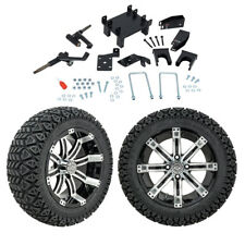 """GTW 5"""" EZGO RXV Electric Golf Cart Lift Kit A/T Tires & 14"""" Wheels Fits 2008-Up"""