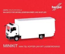 HERPA MiniKit 1:87 MAN TGL Koffer-LKW mit Ladebordwand, wei�Ÿ Bausatz 013123 NEU
