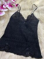 Yamamay black lace Camisole Top sleepwear nightwear size S