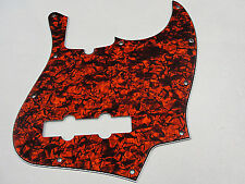 D'ANDREA PRO JAZZ BASS PICKGUARD 10 HOLE ORANGE PEARLOID MADE IN THE USA
