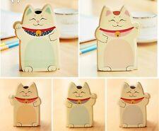 Cat Lindo Suerte Fortuna haciendo señas Maneki Neko Memo Post It Notas Adhesivas Reino Unido