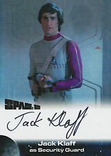 Space 1999 Autograph Trading Card JK1 Jack Klaff As Security Guard