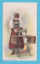 NATIONS - SINGER SEWING - RARE NATIONS / ADVERTISING CARD -  VAUD  - 1894